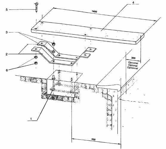 installazione tavola da 1,40 trampolino balestra
