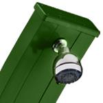 dettaglio soffione doccia spring verde