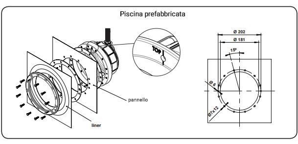 nicchia speciale per faro astalpool lumiplus design
