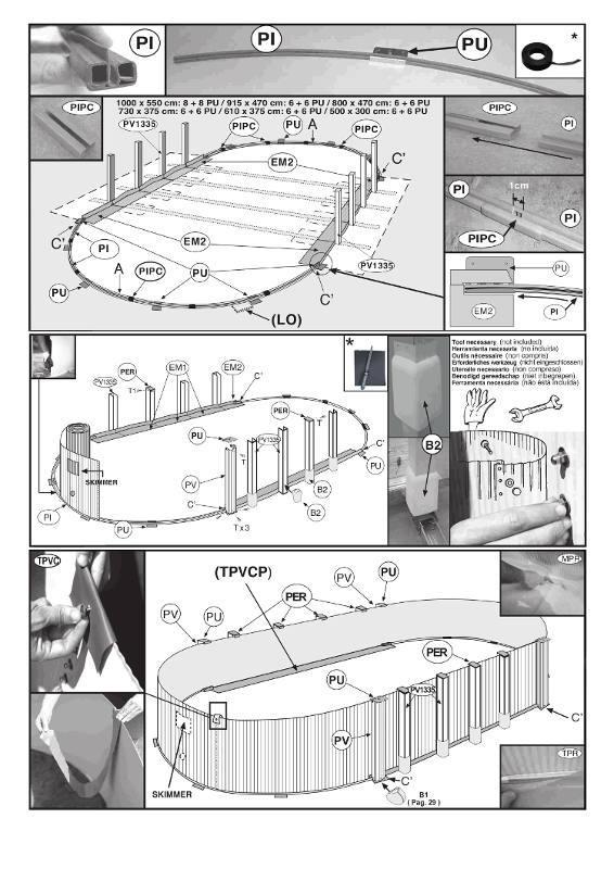 montaggio piscina fuori terra senza contrafforti a vista