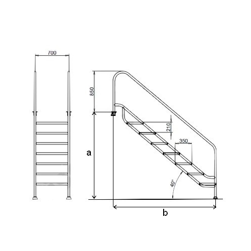 dimensioni scala a ponte
