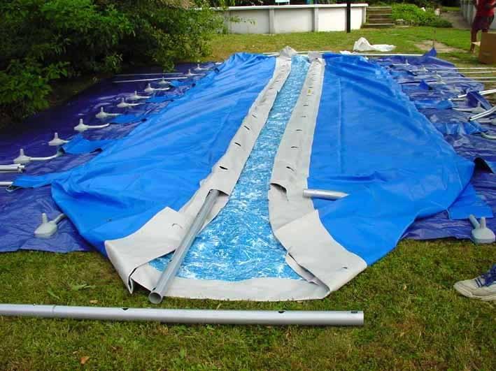 piscina fuoriterra confort fasi di montaggio