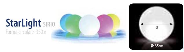 lampada LED galleggiante piscina SIRIO