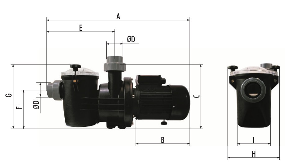 misure pompa hidroswim HGS