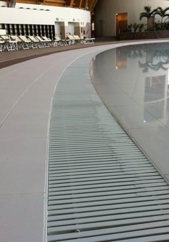 griglie bordo sfioro curvabile grandi dimensioni
